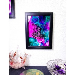 Witchcraft Crystals and Flowers, Wall Art