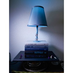Cold Nights, Blue Book Lamp