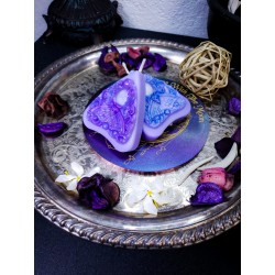 Amethyst Victorian Moth Planchette Candle